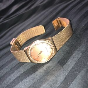 bering rose gold watch!